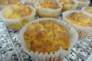 Carrot and cheese muffins